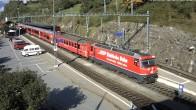 Archived image Webcam train station of Filisur 04:00