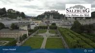 Archiv Foto Webcam Salzburg: Schloss Mirabell 10:00
