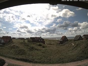 Baltrumhus mit Blick auf die Nordsee