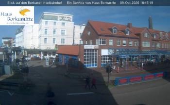 Blick auf den Borkumer Inselbahnhof