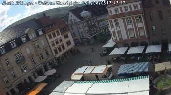 Blick auf den Marktplatz Ettlingen