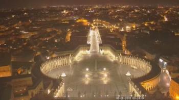 Blick auf Petersplatz in Rom - Piazza San Pietro