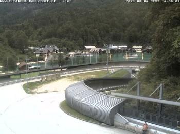 Bobbahn mit Blickrichtung Königssee
