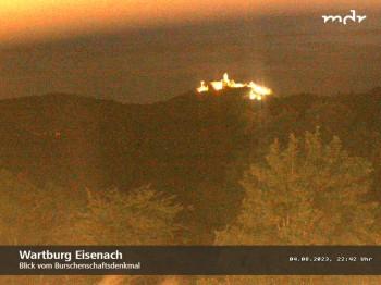 Burschenschaftsdenkmal Blick zur Wartburg Eisenach