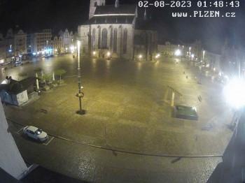 Platz der Republik in Pilsen (Plzen)
