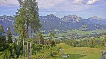 Hauser Kaibling - View towards valley Enns
