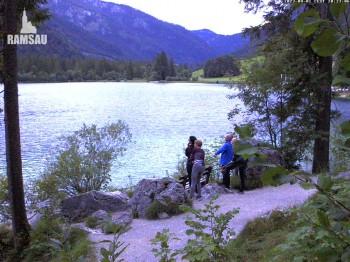 Luitpoldweg at lake Hintersee near Ramsau