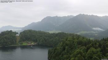 Oberstdorf: Blick von der Skiflugschanze zum Freibergsee
