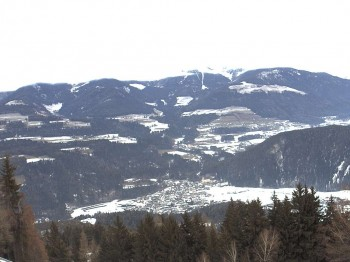 Outlook from mountain Getzenberg (Val Pusteria, South Tyrol)