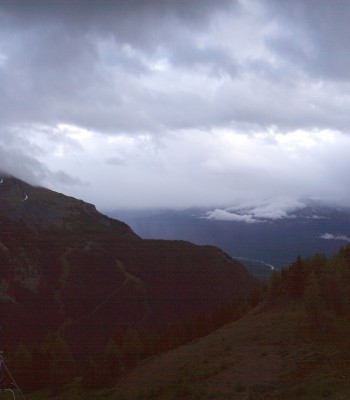 Panorama view Lake Louise