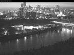Panoramablick auf das River Valley und die Skyline von Edmonton