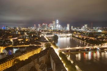 Panoramablick auf die Skyline Frankfurt