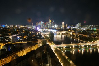 Panoramic View over to the Skyline of Frankfurt