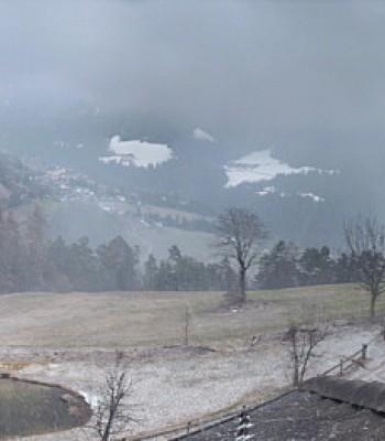 Panoramic view Tiers at mountain range Rosengarten, South Tyrol