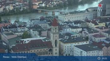 Passau: Blick von der Veste Oberhaus auf Donau und Altstadt