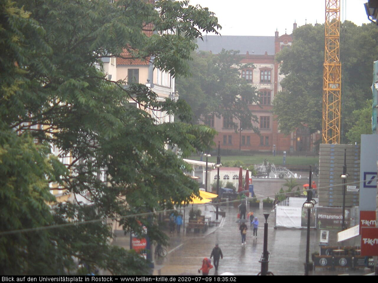 webcam rostock university square baltic sea coast mecklenburg panorama. Black Bedroom Furniture Sets. Home Design Ideas