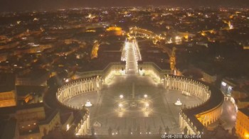 View from St Peter's Basilica towards Piazza San Pietro (Vatican City)
