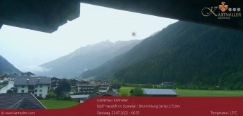 View to Neustift and Serles