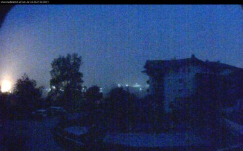 Webcam features a view of the Tennergebirge mountains