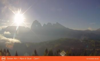 Webcam Seiser Alm - Panorama